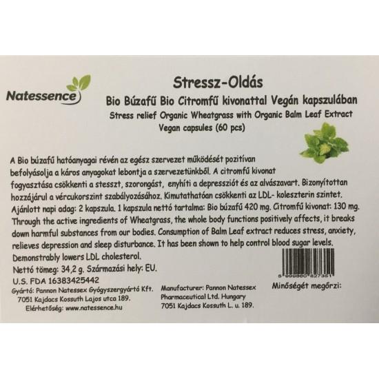 Stressz-Oldás Bio Búzafű Bio Citromfű kivonattal Vegán kapszulában